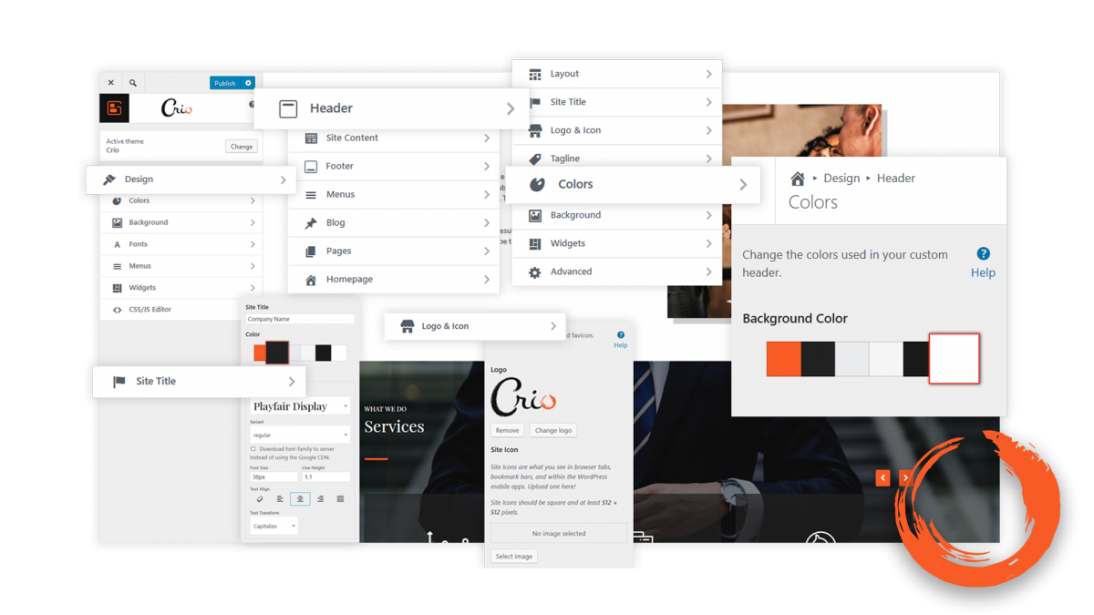 A look at some of the options for BoldGrid Crio - A WordPress Theme for Business
