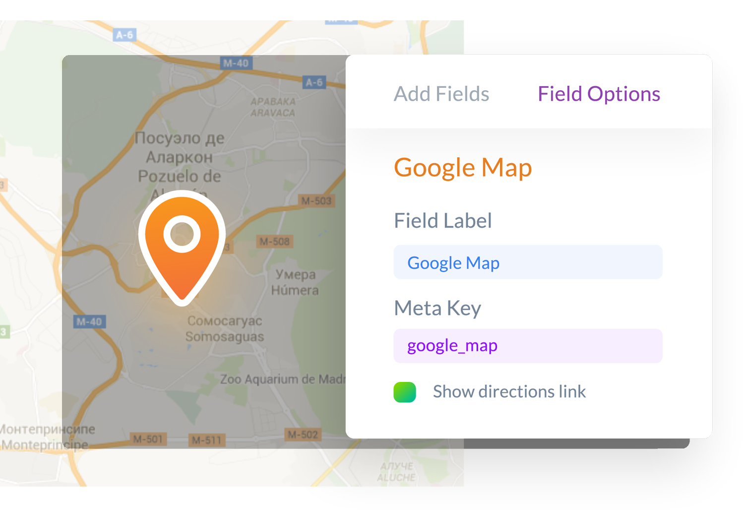 Google Maps for your WordPress forms